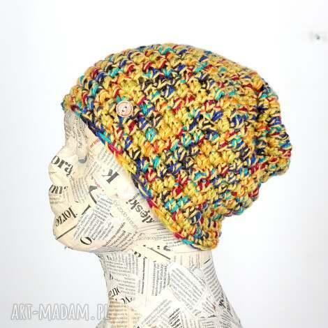 049 beanie ciepła czapka kolorowa unisex, pomysł na prezent wiosna