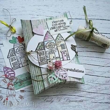 pudełko na prezencik pieniężny, pudeleczko, upominek, dom, prezent