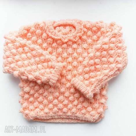 ubranka sweterek dziewczęcy bubble 0-18 m, sweter, dziewczęcy, niemowlak, bawełniany