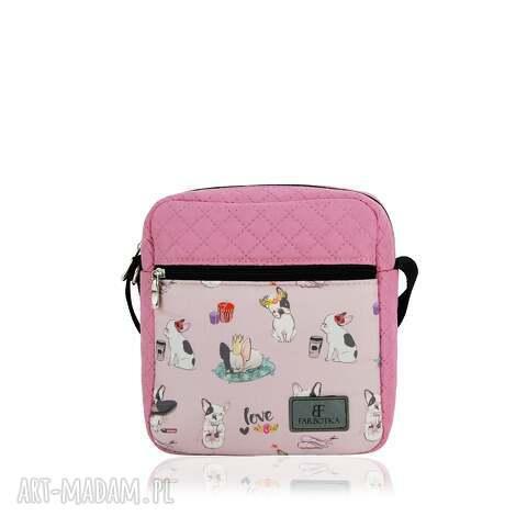 na ramię saszetka damska 1144, torebka, bulldog, printy, modna, stylowa, wyjątkowy