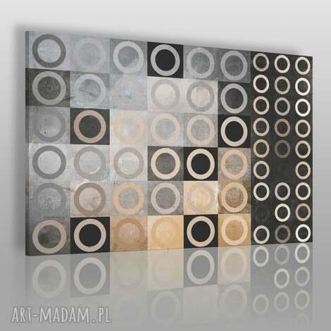 obraz na płótnie - geometria koła 120x80 cm 12502 , koła, kwadraty, abstrakcja