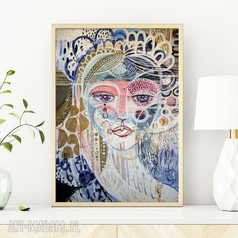 plakaty plakat a4 - adelaida, plakat, wydruk, twarz, kobieta, postać