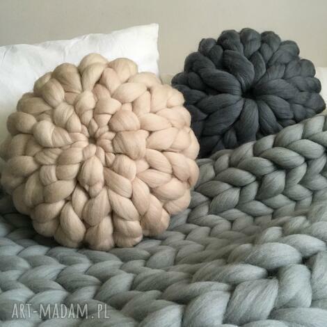poduszki wełniana poduszka 100 wełna merynosów, poduszka, wełna, pillow, chunkypillow
