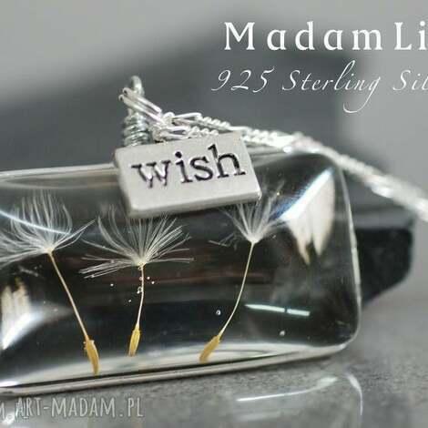 925 naszyjnik srebrny dmuchawiec wish - srebro, dmuchawiec, 925, natura, elegancja