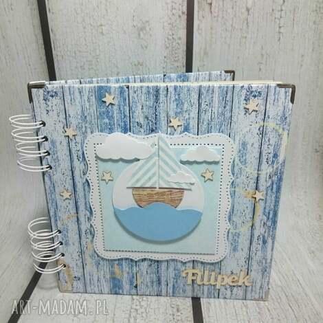 marynarski album na zdjęcia, marynarski, statek, chrzest, urodziny, chłopiec