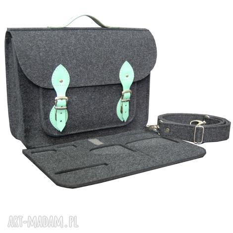 torba na laptopa z filcu 11 ramię, do pracy, aktówka, organizer