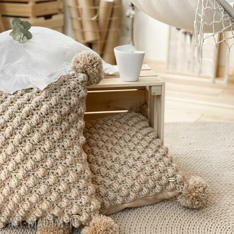 poduszka dekoracyjna bubble, poduszka, pompony, bubble, dekoracyjna
