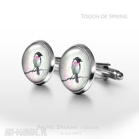 touch of spring - dotyk wiosny - spinki do mankietów - spinki, mankietów, koszuli