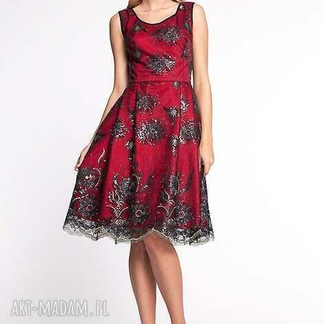 apollina - sukienka 38, moda, koronka, cekiny, wieczór, wesele, impreza ubrania