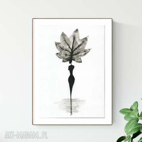 grafika a4 wykonana ręcznie, abstrakcja, elegancki minimalizm, obraz do salonu