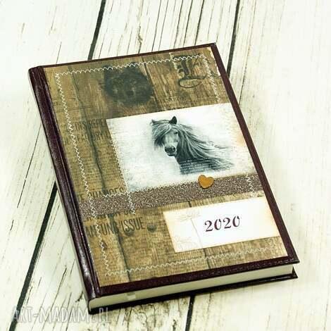 kalendarz książkowy 2020- wild nature, kalendarz, a5, książkowy, dzienny, konie