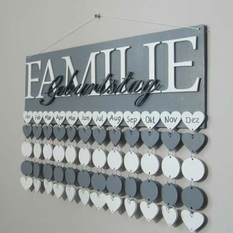 kalendarz rodzinny, urodzin, dowolna kolorystyka i napisy, przypominajka