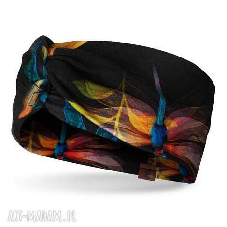 opaski wiosenna opaska w ważki na głowę z ozdobnym węzłem, bawełna, dresówka