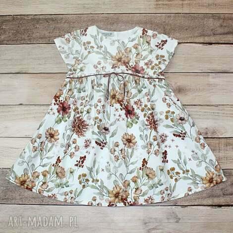 sukienka kwiaty vintage, vintage dress, dla dziewczynki