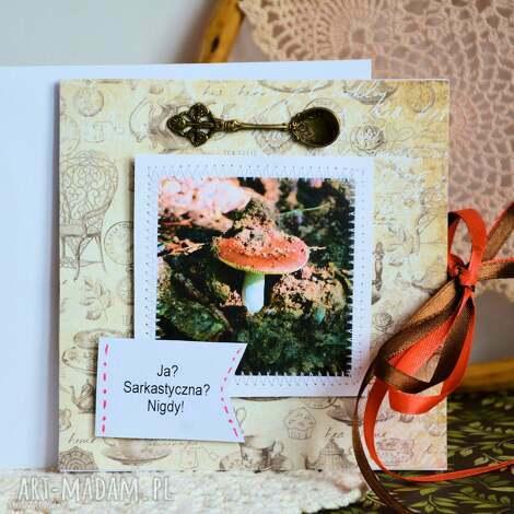 kartka - ja sarkastyczna nigdy, kartka, fotografia, muchomor, kuchnia