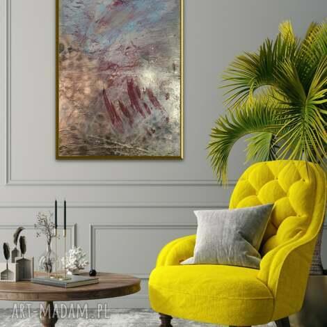 obraz ręcznie malowany na płótnie 50 x 70, farby akrylowe, struktura