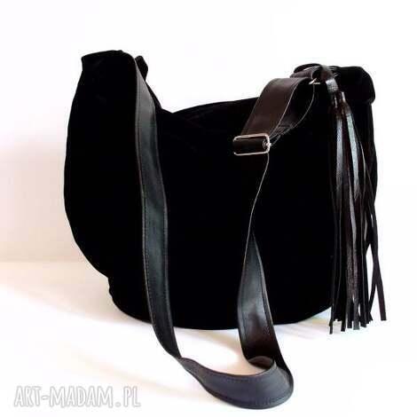 hobo, czarna, listonoszka torebki