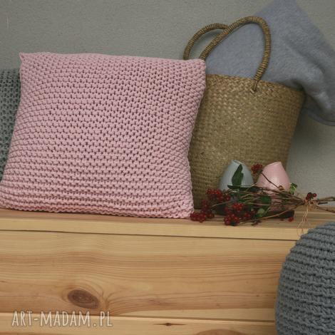 różowa poduszka 50x50 - poduszka, róż