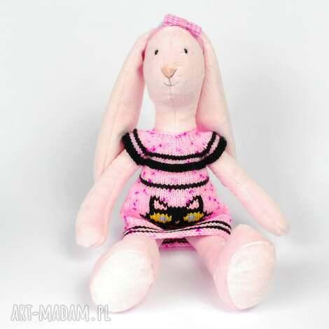 króliczek - maskotka, zabawka, dziewczynka, minky, prezent, przytulanka