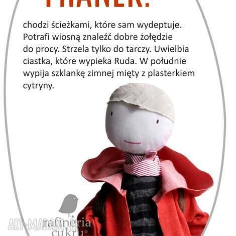 franek serdeczny kolega - chłopak, chłopiec, szmacianka, eko, spodnie, plecak