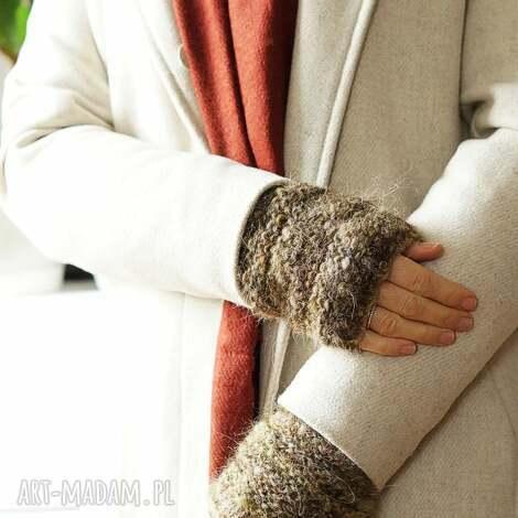 ziemiste rękawki - mitenki, płaszcz, mikołajki, prezent, gwiazdkowy