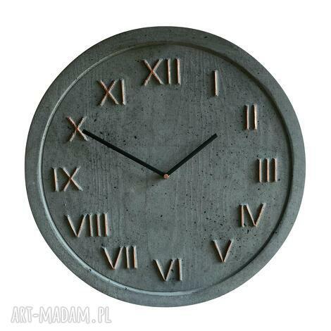 zegary 3 betonowe zestaw, zegar