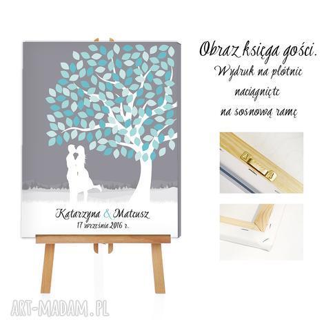 księgi gości obraz alaksięga - drzewo zakochanych 50x70, ślub, wesele, księga