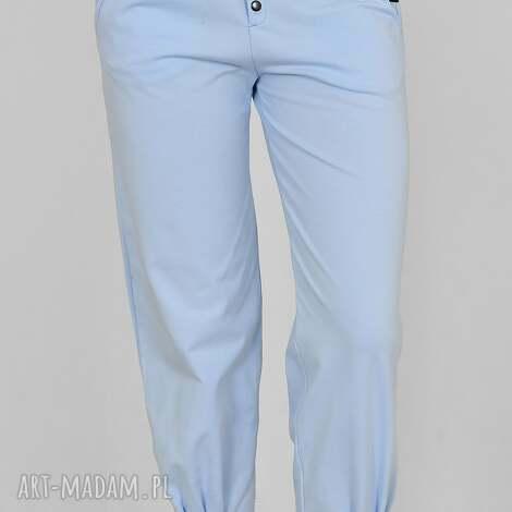 spodnie pumpy agnes niebieskie, spodnie, marynarka, koszula, sukienka, koszulka