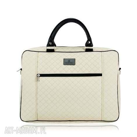 torba na laptopa 1231, praktyczna, pikowana, duża, ramię