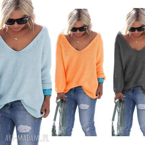 sexy serek sweterek, sweter, serek, dekolt, luźny, pulower, jesień