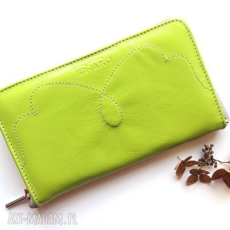 portmonetka damska na zamek, portfel, prezent, damski, rękodzieło, skóra
