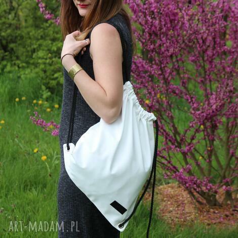 worek plecak biały wodoodporny, worek, plecak, wycieczka, festiwal