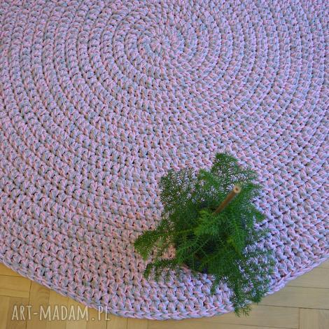 okrąglak melanż, dywan, chodnik, okrągły, koło, prosty dom