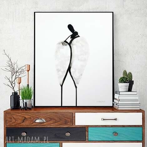 grafika 40x50 cm wykonana ręcznie, plakat, abstrakcja, elegancki minimalizm, obraz do
