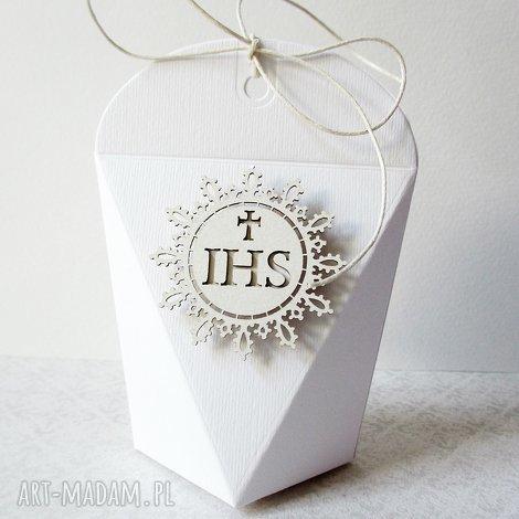 komunia - pudełeczka podziękowania - życzenia, pudełeczka