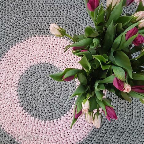 dywany dywan na szydelku 120 cm kolo, dywan, szydelko, dekoracje dom