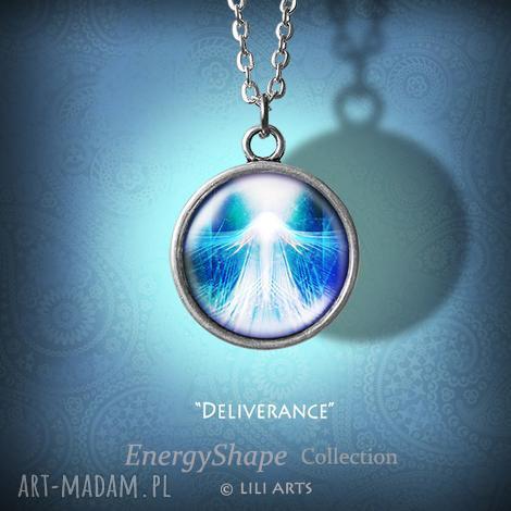medalion, talizman - uwolnienie - prosty - naszyjnik, ezoteryczny, prezent