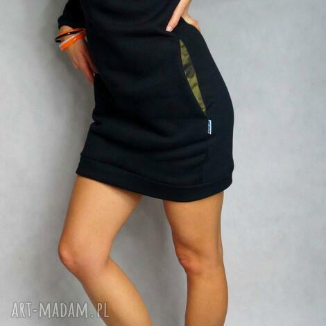 sukienka tunika camo - s m , dresowa, tunika, sukienka, kieszenie, moro, ciepła