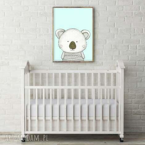 pokoik dziecka koala a3, miś, misio, misie, koala, obrazek, ilustracja dla