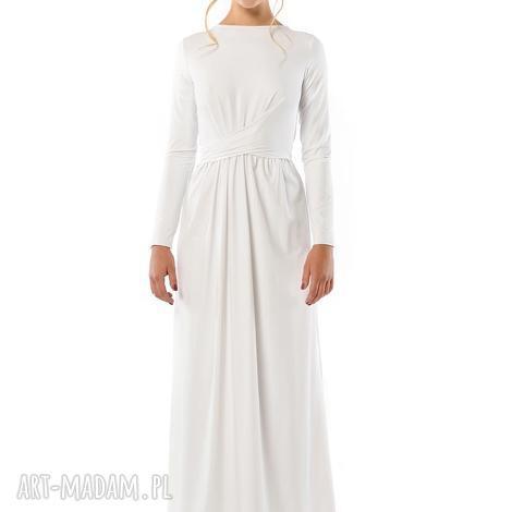 cristina patria 2 biaŁa suknia - ślubna, suknia, jersey