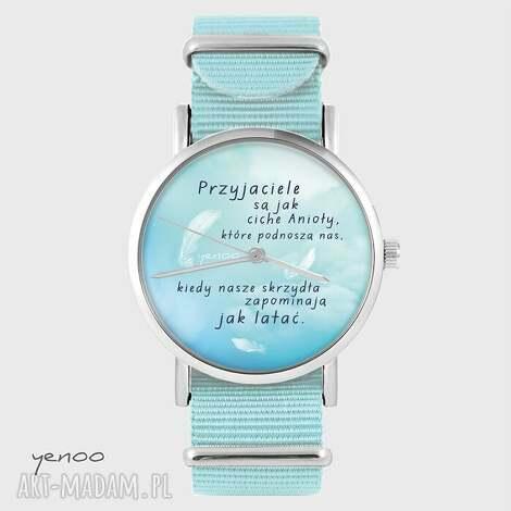 zegarek, bransoletka - przyjaciele niebieski, nato, bransoletka, nato
