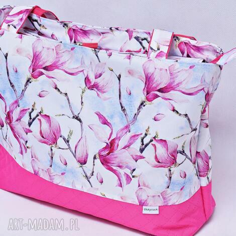 torebka magnolie różowe wodoodporna, torebka, damska