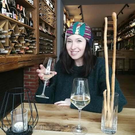 czapka damska szyta patchworkwo kolorowa wiosenna handmade - czapka, damska, etno, orient