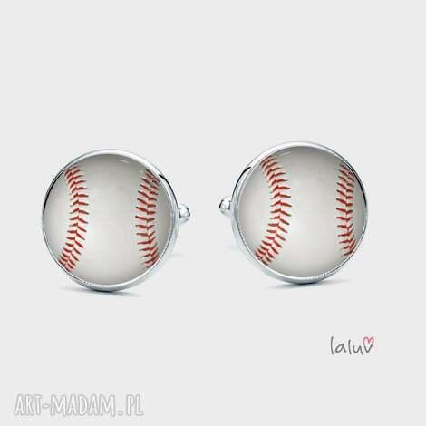 spinki do mankietów baseball, sport kij hobby piłka, boisko, homerun