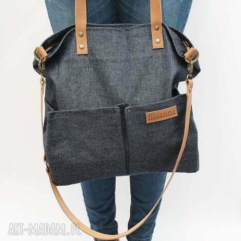 torebki kieszenie, flisanna, jeans, skóra