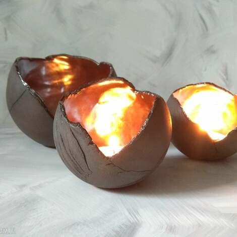 duży lampion ceramiczny ozdobny szkliwiony - świecznik tealight