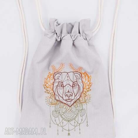 plecaki plecak worek z niedźwiedźiem, folk, niedźwiedź, plecak, worek, las, góry