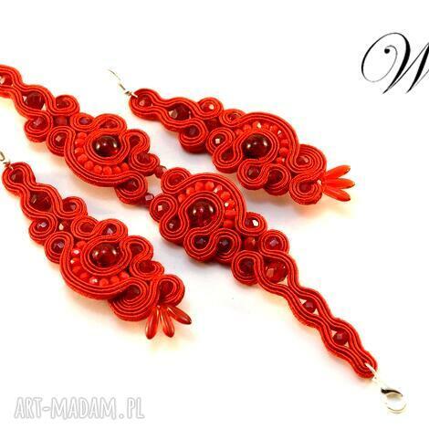 komplet sutasz czerwony, sutasz, komplet, elegancki, modny biżuteria