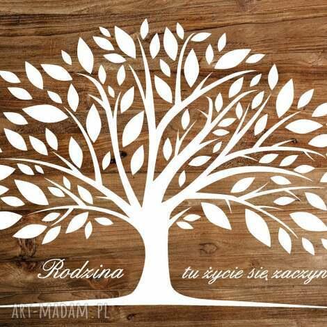 księgi gości rustykalna alternatywna księga weselnych - drzewo wpisów