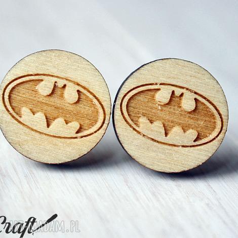 spinki do mankietów batman - drewniane, batman, unikatowe, ekologiczne, spinki